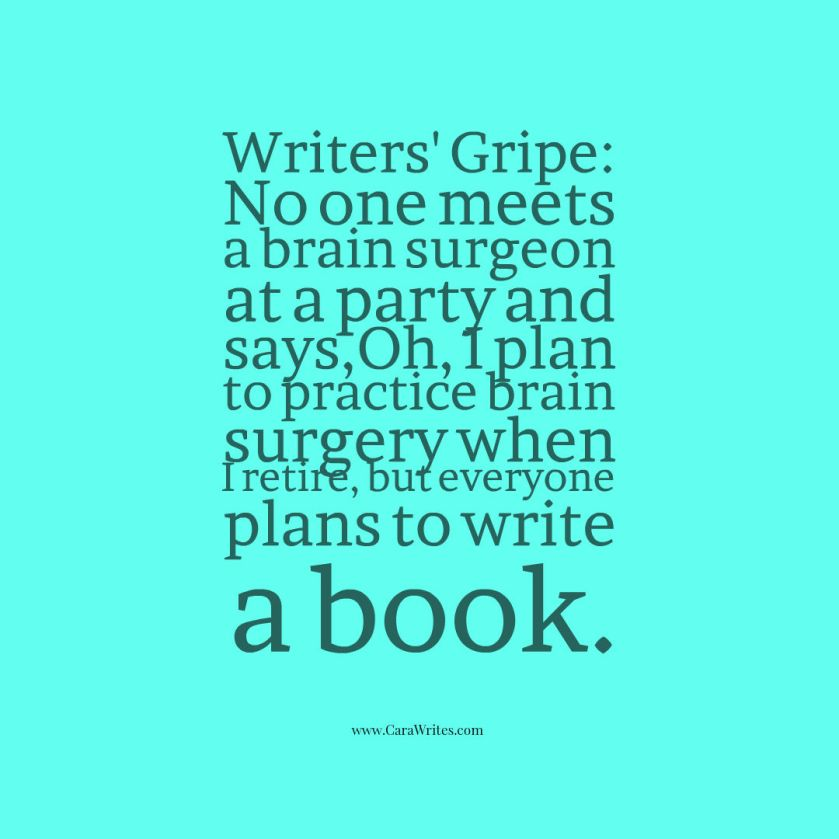 everyone plans to write a book
